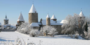 Chenaux Castle in the wintertime